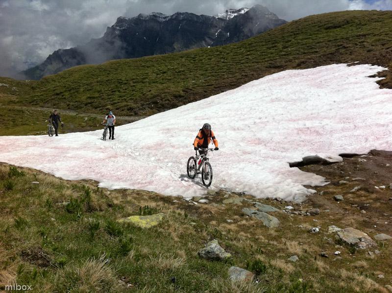 Überquerung eines Schneefeldes
