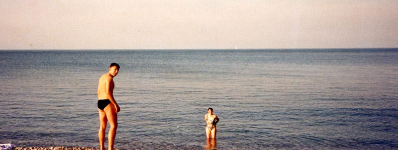 Baden am Strand von Wicklow