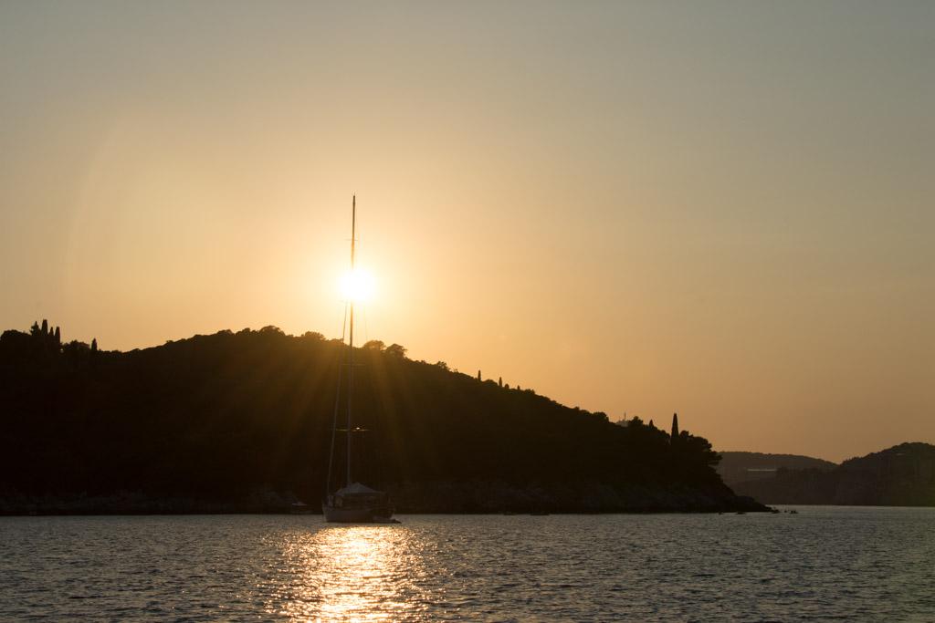 Sonnenuntergang auf Lokrum