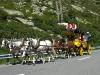 Postkutsche auf dem Gotthardpass