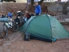Die erste Nacht im Zelt