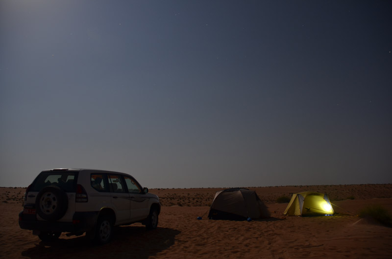 Campieren im Sand